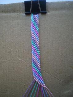 DIY Friendship Bracelet Tutorial 5: Candystripe Pattern DIY Jewelry DIY Bracelet for Christmas ideas