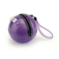 """""""Rock'n'Ball"""" sphere handbag in solid colour bright PVC with a pvc handle"""