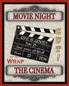 Movie Night-jp2210 Print by Jean Plout