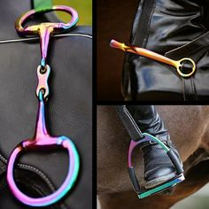 Here you can order any 3 Rainbow Gloss Items for just £175! If the items you have ordered are no in stock they will become special order items and can take up to 10 weeks to be made from scratch and arrive. If this is the case we will get in touch with you via email once your order has been received. EvoEquine – Rainbow Gloss CollectionThe EvoEquine Rainbow Gloss Collection is a completely extraordinary range of Bits, Stirrups & Spurs designed to look beautiful whilst helping your horse p...