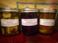 B&P's Special: The Memory Set - Small Batch Pickled Beets, Dill Pickles, Bread And Butter - Classics by Bushel & Peck's on Gourmly