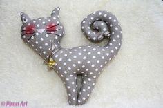 ♥+Zauberhaftes+Kätzchen+grau-braun/+weiß-gepunktet+von+Piron-Art+auf+DaWanda.com