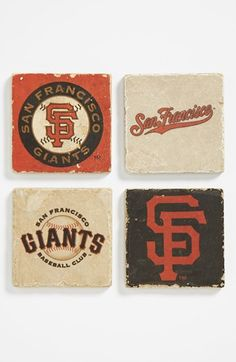 'San Francisco Giants' Marble Coasters (Set of 4) available at #Nordstrom. I need these!!!!