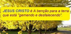 """Momento Versículos: JESUS CRISTO é a benção para a terra que está """"gem..."""