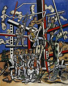 Style: cubism Artist: Fernand Leger Name:The Constructors Piet Mondrian, Jean Renoir, Man Ray, Centre Pompidou Metz, Georges Braque, New Times, Sonia Delaunay, Art Uk, Art Moderne