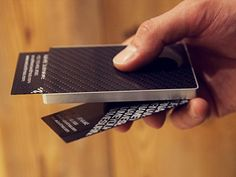f3198bc5ffc Carbon fiber business card holder from Cardissimo's. The design allows you  to take out a card with just a slide of the thumb.
