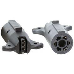 Buyers TC2074P 7 Pin Flat to 4 Pin Flat Adapter - Plastic