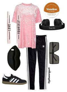 """""""Keanu2"""" by powergurl-1 on Polyvore featuring Madewell, Topshop, Yves Saint Laurent, STELLA McCARTNEY, adidas, Beats by Dr. Dre and Vaseline"""