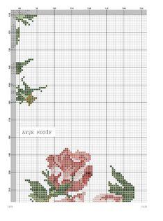 Güllü Büyük Masa Örtüsü Kanaviçe Şablon ~ Kumaş Kağıt Makas Cross Stitch Rose, Vintage Roses, Bed Covers, Diy And Crafts, Projects To Try, Bed Sheets, Patterns, Easy Crafts, Cross Stitch Embroidery