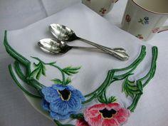 Anemone napkins - really pretty!