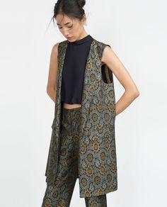 JACQUARD WAISTCOAT-Outerwear-WOMAN-SALE | ZARA United States