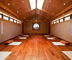 Yoga studio - remember to keep it simple Stephanie! Props and storage wall, blank wall, wall with alter/meditation space