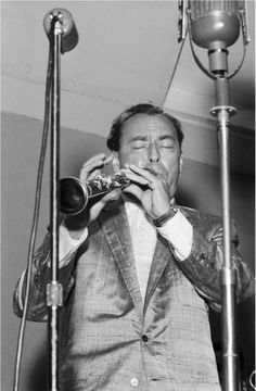 Woody Herman, 1955, at the Newport Jazz Festival. King of the Clarinet