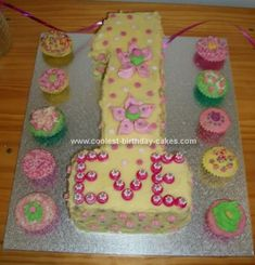 Homemade First Birthday Cake: I made this First Birthday Cake for my daughter as I'm bias towards first birthdays having to be a number 1 cake! I wanted to use yellow as it's such a