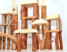 Wooden toy Tree Castle Wooden set BIG SIZE blocks Natural