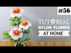 Nylon stocking flowers tutorial #56, How to make nylon stocking flower step by step - YouTube