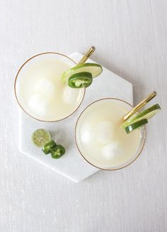 Jalapeño Infused Tequila and Key Lime Mix for Spicy Margaritas | http://heyweddinglady.com/jalapeno-margaritas-key-lime-tarts/