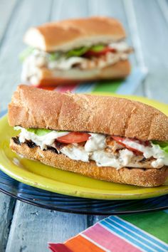 Paula Deen Grilled Tilapia Po' Boys with Homemade Tartar Sauce