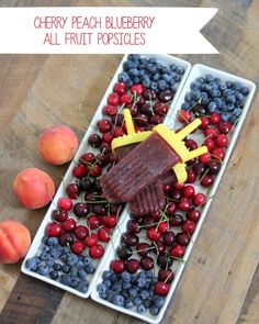 yummy, healthy and perfect for summer- cherry blueberry peach all fruit popsicle recipe
