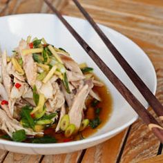 Shredded Chicken with Asian Ginger Sauce for all phases -- use leftover chicken for this fastest main dish ever. Sub 1 tablespoon broth for the white wine, and skip the oil for Phase 1 and Phase 2.
