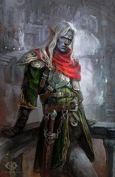 Dark Elf by IcedWingsArt.deviantart.com on @deviantART