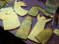 Sue Davis's  new clay figures....in progress