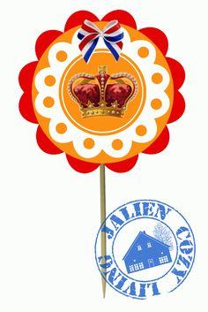 Jalien Cozy Living: DIY: Koningsdag Cupcake-topper... Gratis Printable
