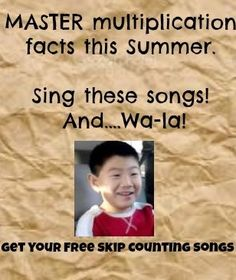 3rd and 4th grade multiplication songs that WILL teach your child their multiplication tables. Music and repetition.