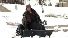 An Iowa man with cerebral palsy puts his wheelchair to work when the snow falls. WOI's Nikki Davidson has the story/