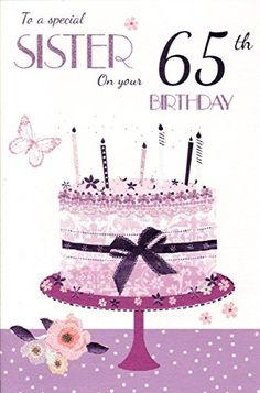 65th Birthday Cards Freebies Sister Wishes Happy