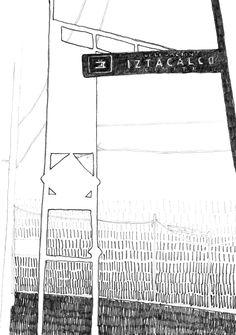 Letrro Delegación Iztacalco, Ciudad de México FONCA Enrique Flores Exploraciones Cartográficas