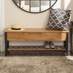 Shop The Gray Barn Paradise Hill Lift-top Storage Bench - On Sale - Overstock - 17783849 - Barnwood Foyer Bench, Entryway Bench Storage, Oak Bench, Rustic Bench, Diy Bench With Storage, Entryway Ideas, Storage Benches, Modern Entryway, Small Entryway Decor
