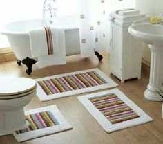 Bathroom Creative Bathroom Rugs Ideas With Nice Style Interesting