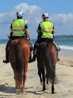 Rainbow Beach, Queensland, Australia   Police patrol at Rainbow Beach     Not a bad shift to do!