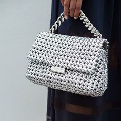 Becks appeal. The woven #BecksBag adds an element of fun to a classic wardrobe.  Shop bags at #StellaMcCartney.com