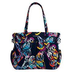 Vera Bradley® Iconic Ultimate Baby Bag in Butterfly Flutter Mochila Nike, Teacher Bags, 31 Bags, Baby Diaper Bags, Barbie Accessories, Luxury Handbags, Alter, Vera Bradley, Shoulder Bag