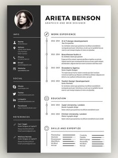 Here's a resume employers actually want to read. Try this clean, minimal resume template for landing your dream job! Here's a resume employers actually want to read. Try this clean, minimal resume template for landing your dream job! Resume Layout, Job Resume, Resume Design Template, Resume Templates, Cv Template, Resume Pdf, Resume Format, Creation Cv, Cv Photoshop