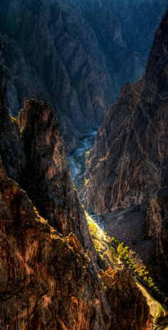 Black Canyon by Wayne Boland, via 500px; Painted Wall, Black Canyon of the Gunnison National park