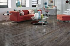 7 Hot Flooring Looks for 2015:  This versatile hue provides a stylish and modern look that works well in casual and coastal settings.