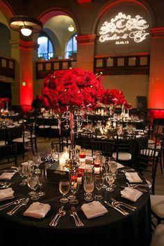 wedding table dark red - Google Search