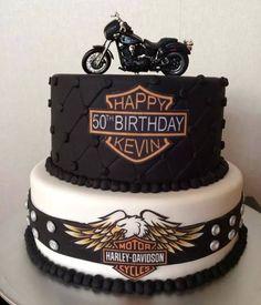 Harley Davidson Cake, Motorbike Birthday Cake