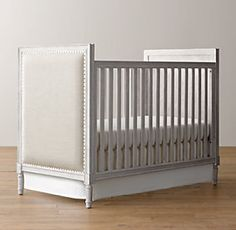 Marcelle Upholstered Crib Collection | Restoration Hardware Baby & Child