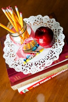 school themed centerpiece - Google Search