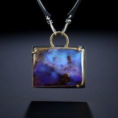 Metalsmiths Amy Buettner & Tucker Glasow. Boulder Opal Centerpiece. Fabricated Sterling Silver, 18k and 22k. www.amybuettner.com