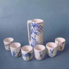 Image of jarra y juego seis vasos by Favorito Studio.   (www.favoritostudio.com)