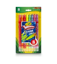 NEW CRAYONS 8 PACK HEADS /'N TAILS DUAL ENDED CRAYONS