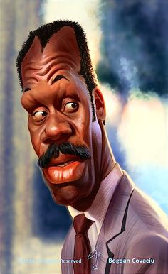 Celebrity caricatures Danny Glover by bogdancovaciu on DeviantArt Cartoon Faces, Funny Faces, Cartoon Art, Funny Caricatures, Celebrity Caricatures, Celebrity Drawings, Caricature Drawing, Caricature Artist, Drawing Art