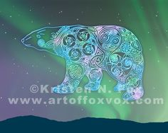 Celtic Polar Bear by foxvox.deviantart.com on @deviantART