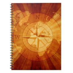 Nautical Compass Globe Note Book
