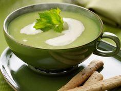 Spruitjes soep met zalm